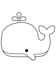 """Tampon en Bois """"Baleine"""" -..."""