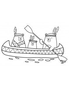 """Tampon en Bois """"Canoe"""" -..."""