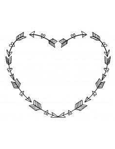"Tampon en Bois ""Heart"" -..."