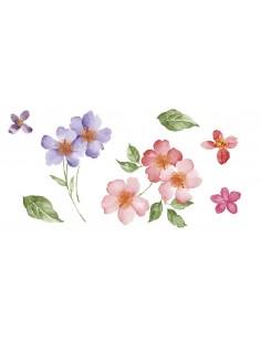 "Décalcomanie ""Fleurs"" - 5 x..."