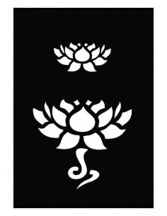 "Pochoir Adhésif ""Lotus"" - 7..."
