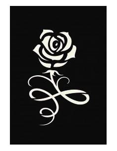 "Pochoir Adhésif ""Rose"" - 7..."