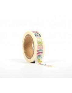 """Tape décoratif """"Be happy"""" -..."""