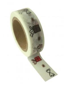 """Tape décoratif """"Blanc..."""