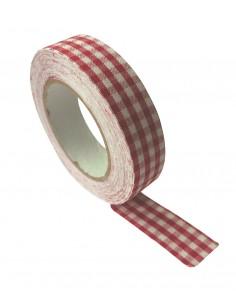 """Tape en tissu """"Carreaux..."""