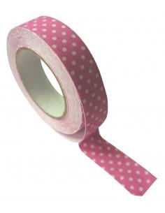 """Tape en tissu """"Rose à pois""""..."""