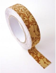 """Tape en tissu """"Horloges..."""