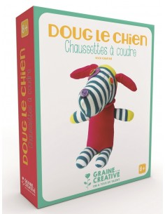 """Chaussette à coudre """"Chien""""..."""