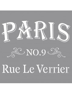 "Pochoir ""Rue le Verrier"" -..."