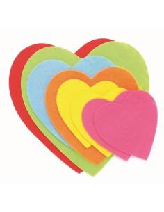 Cœurs en feutrine - 8 à 15 cm