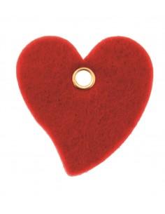 Cœurs en feutrine avec trou...