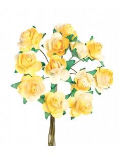 """Mini-Roses """"Jaune"""" - Ø 1.5 cm"""