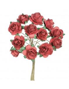 """Mini Roses """"Rouge"""" - Ø 1.5 cm"""