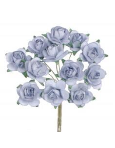 """Mini-Roses """"Bleu"""" - Ø 1.5 cm"""