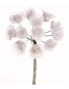 Roses Organza 12 Fleurs...