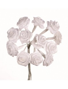 "Rosettes 12 Fleurs ""Blanc""..."