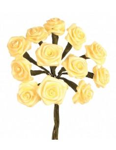 """Rosettes 12 Fleurs """"Jaune""""..."""