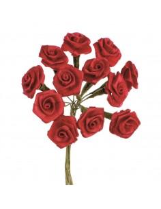 """Rosettes 12 Fleurs """"Rouge""""..."""
