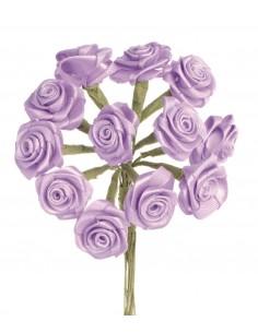 """Rosettes 12 Fleurs """"Lilas""""..."""