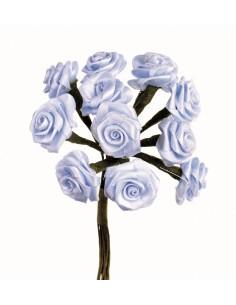 """Rosettes 12 Fleurs """"Bleu..."""