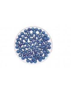 """Perles Métalliques """"Bleu"""" -..."""