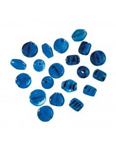"""Perles en Verre """"Bleu"""" - 17..."""