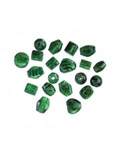 """Perles en Verre """"Vert"""" - 17..."""