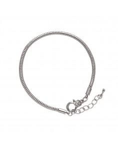 Bracelet Rhodium - 19 cm
