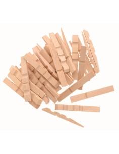 Demi pinces à linge en bois...