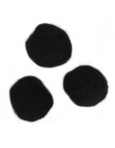 """Pompons """"Noir"""" - Ø 7 mm"""