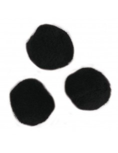 """Pompons """"Noir"""" - Ø 10 mm"""