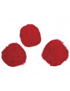 """Pompons """"Rouge"""" - Ø 20 mm"""