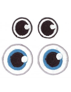 """Yeux en Tissu """"Noir & Bleu"""""""