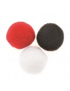 """Pompons """"Rouge-Blanc-Noir""""..."""