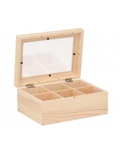 Petite boîte à thé en bois...