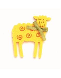 """Moutons en Feutrine """"Jaune""""..."""