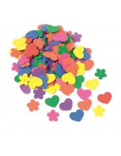 Fleurs & Cœurs en mousse -...