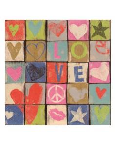 """Serviettes en Papier """"Love..."""