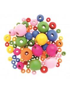Mix de perles en Bois...