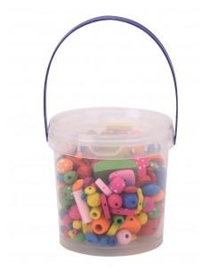 Boîtes de Perles en Bois -...