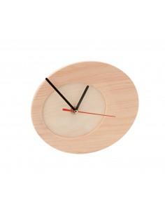 Horloge Ovale en Bois avec...
