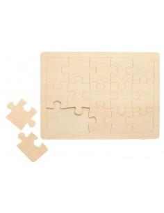 Puzzle en bois à peindre -...
