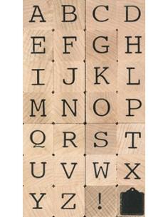 """Tampons en Bois """"Lettres..."""