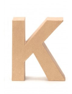 """Lettre """"K"""" en carton - 17.5..."""
