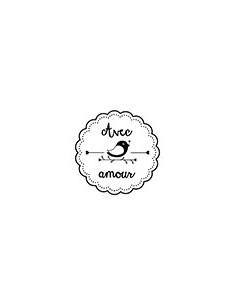 """Woodies """"Avec Amour"""" - Ø 3 cm"""