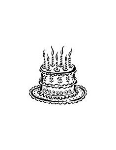 """Tampon en Bois """"Gâteau..."""