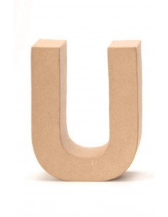 """Lettre """"U"""" en carton - 17.5..."""