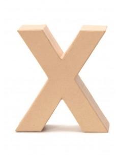 """Lettre """"X"""" en carton - 17.5..."""