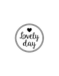 "Tampon en Bois ""Lovely Day""..."