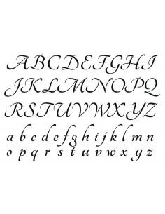 """Pochoir """"Alphabet"""" - 21 x..."""